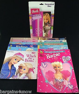 Barbie Books Coloring Books Personalized Diary NEW
