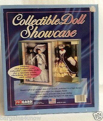 USA Progard Clear Acrylic Collectible Antique Doll Showcase Display Box 14.5""