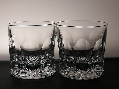 "Tudor Crystal ""frobisher"" Pattern 2 Tumblers -Marked"