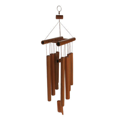 Handmade Windchimes Wind Chime Bamboo Tubes Rustic Hanging Ornament Home Decor