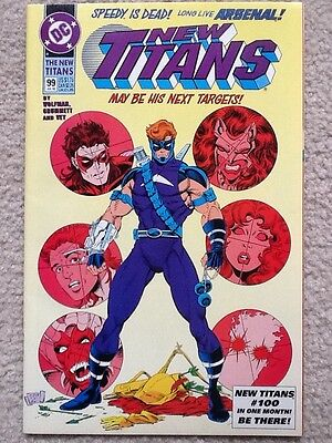 New Titans #99 1993 DC Comics First appearance of Roy Harper as Arsenal! F/VF