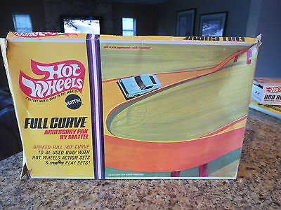 Vintage Hot Wheels Half Curved Track In Box