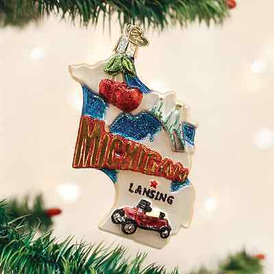 *State of Michigan* [36184] Old World Christmas Glass Ornament - NEW