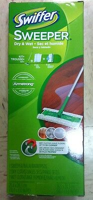 Swiffer 30942 SWEEPER STARTER KIT 2 IN 1 SWEEPING AND MOPPING DRY/WET CLOTHS NEW