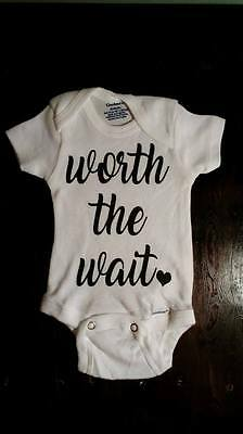 Baby Newborn Worth The Wait with Heart Onesie - Misc Sizes Available