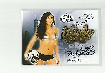 2013 Benchwarmer National Maria Kanellis Windy City Auto Autograph