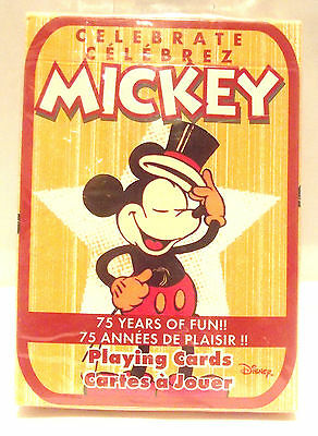Mickey Mouse Disney Playing Cards 75 Years NEW