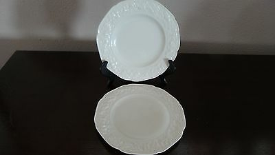 Crown Ducal Florentine Made in England White Salad Plates x 2