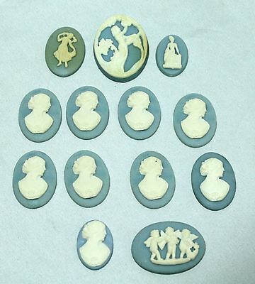 16 Composite Wedgwood Style Neoclassical & Cameo Decoration Pieces - Set 2