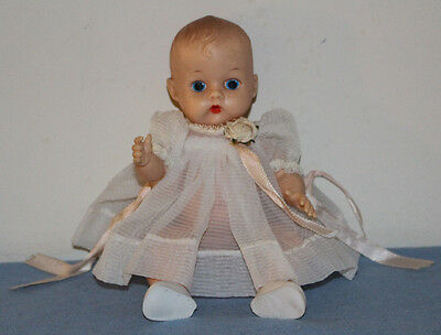 "#1 VINTAGE 8"" VOGUE GINNETTE PAINTED EYE Doll + TAGGED OUTFIT Ginny Baby Sister"