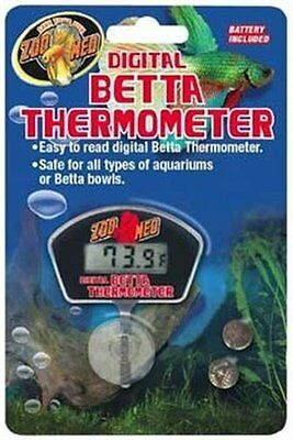 Zoo Med Digital Betta Thermometer With Battery Waterproof Tested. Free Ship Usa
