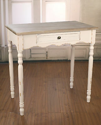 Sofa Table Antique White French Provincial Desk With Drawer Brand New
