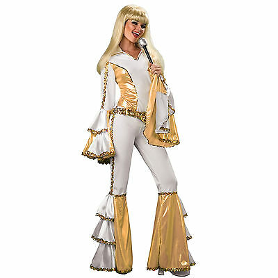 70s Disco Queen Women's Adult Funky Groovy Fancy Dress Party Costume Outfit