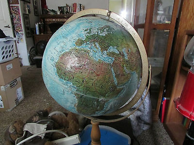 "world globe on stand, 24"" tall - vintage World Ocean Series"