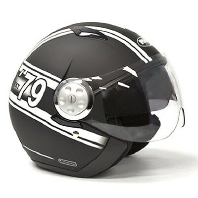 X-Small Matt Black/White RXT Striker Helmet AS1698 Standards Approved, Motorcyle