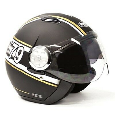 Large Matt Black/White/Gold RXT Striker Helmet AS1698 Standards Approved