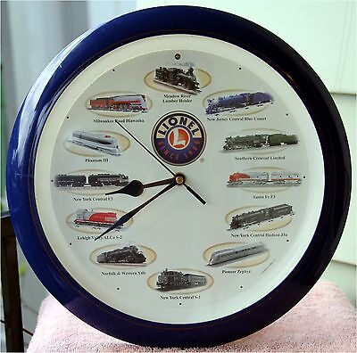 Lionel Train Clock Chimes On Hours With Train Horn Sounds