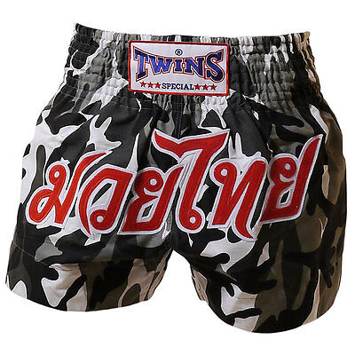 "Twins Special Muay Thai Kick Boxing Shorts ""army Grey""  M, L, Xl Aus Stock"