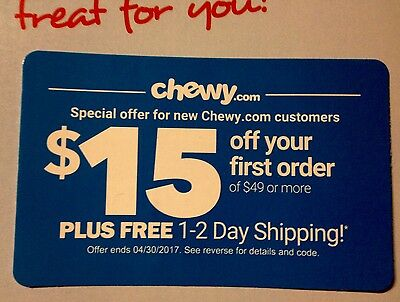 Chewy coupons first order