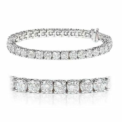 Special Offer..!! 3.53 Carat Round Diamond Tennis Bracelet in White Gold