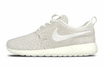 c06a9f53a2ba NIKE WOMEN S ROSHE ONE FLYKNIT SHOES SIZE 12 sail white string 704927 100