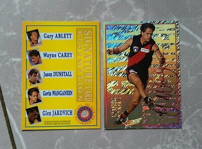 1995 Select Signature & Redemption Gavin Wanganeen Essendon 199 Of 500