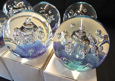 Extra large glass paperweights , lot of 6