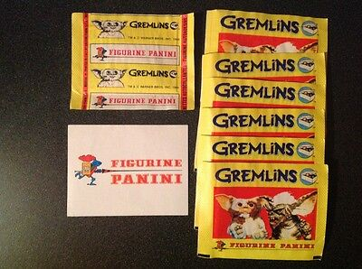 PANINI lot 7 Pochettes bustina GREMLINS Pack sealed neuves TOP 1984