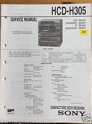 Sony HCD-H305 Compact Disc Receiver Service Manual