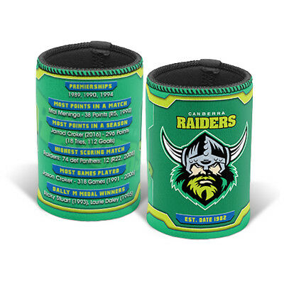 Canberra Raiders NRL History Can Cooler Stubby Holder * End 2016 Season