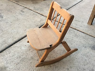 Vintage child's rocking chair folding