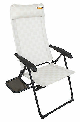 Quest Elite Riviera SL Lightweight Alloy Reclining Camping Chair with Table