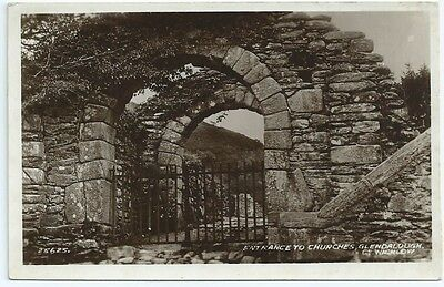 Vintage Postcard.RP.Entrance to Churches,Glendalough,Co.Wicklow Unused.Ref:6.174