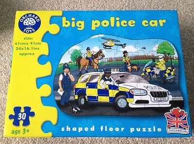 Orchard Toys Boxed Big Police Car Floor Puzzle / Jigsaw 3+ Years