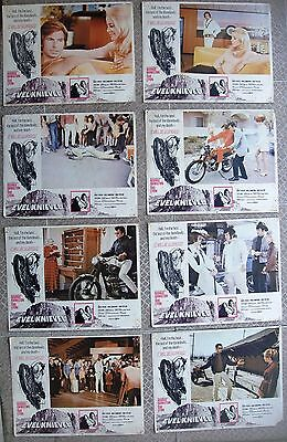 "EVEL KNIEVEL Set of US (8) Lobby Cards LC 11x14"" Film movie Poster 1971 F/VF C7"