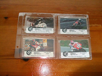 Isle of Man phonecards  TT Races in Collectors Folder 1992 issue