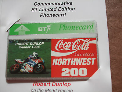 Robert Dunlop Northwest 200 in Ltd Edition Folder