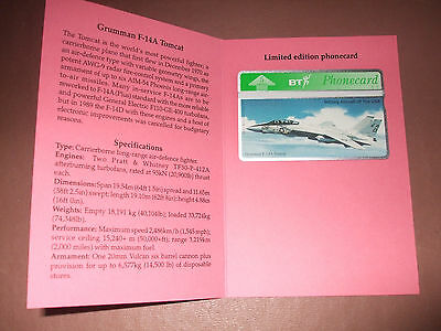 Grumman Tomcat Aircraft of the USA Series in Ltd Edition Fldr Mint / Unused