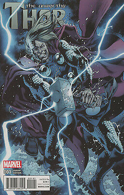 UNWORTHY THOR #1 HITCH VARIANT 1:15 Bagged & Boarded NM