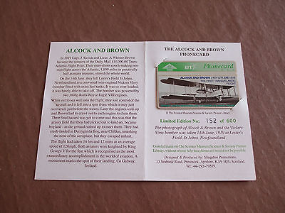 Alcock and Brown 75th transatlantic flight in Ltd Edtn  folder