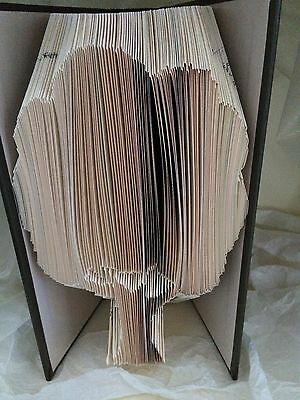 Book folding art pattern Tree 3 folded book (pattern only)
