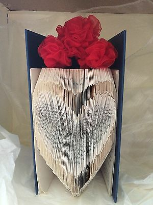 Book folding art pattern Heart shape 5 folded book (pattern only)
