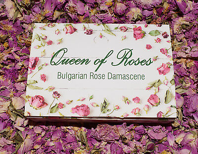 Natural ROSE petals & buds Bulgarian Rosa Aromatic dry flowers - gift soap 100g