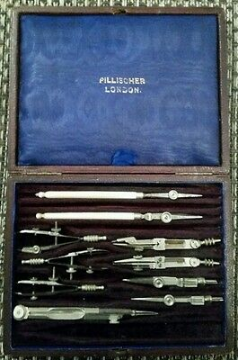 ANTIQUE RARE DRAWING INSTRUMENTS by PILLISCHER LONDON**circa 1880