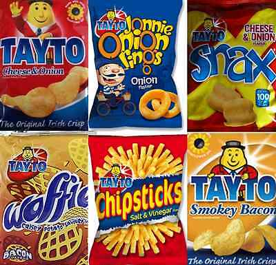 TAYTO Snack Mix (24 packs) incl, Cheese & Onion, Chipsticks & Jonnie Onion Rings