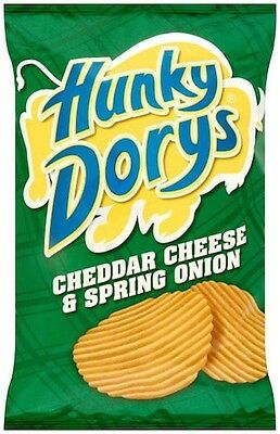 HUNKY DORYS CRISPS FROM IRELAND (12 X 25g packs) Cheddar Cheese and Spring Onion
