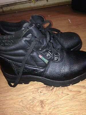 click safety boots work steel toe