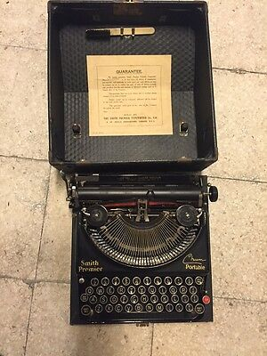 Macchina scrivere custodia Smith Premier Vintage Portable Typewriter With Case