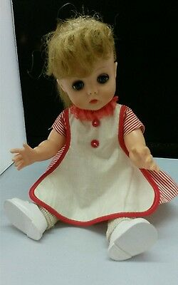 "Horsman 13 1/2"" vintage blonde Doll with clothes"