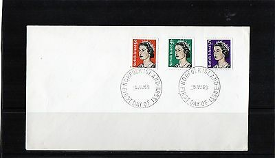 1968 Norfolk Island Set Of 3 Coils Stamps Unaddressed FDC, Mint Condition